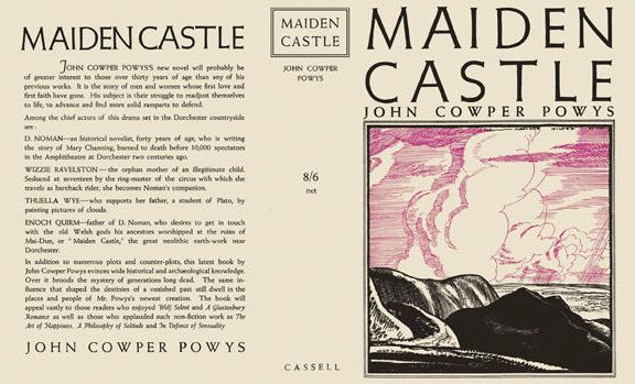 John Cowper Powys, Maiden Castle (front and back cover)