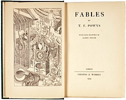 t f powys, fables