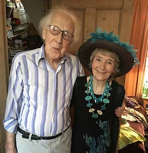 Cecil Woolf with Jean Moorcroft Wilson