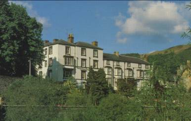 The Hand Hotel from the River Dee