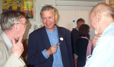 Timothy Hyman (centre) with Professor Keith and Peter Lazare